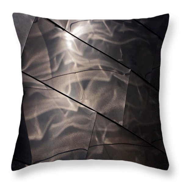 Gehry Magic Throw Pillow by Rona Black