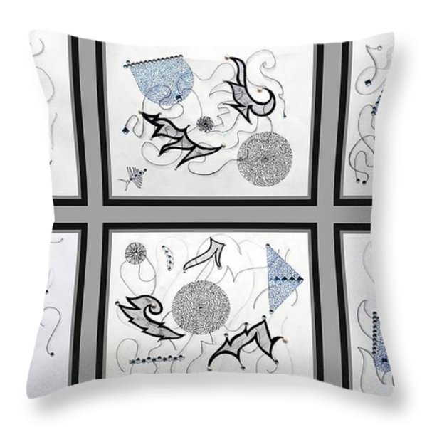 Gem-tle Throw Pillow by Sumit Mehndiratta