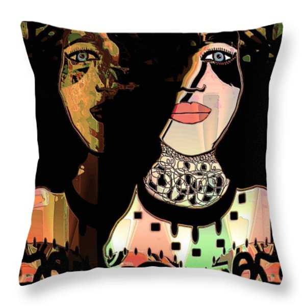 Gemini Throw Pillow by Natalie Holland