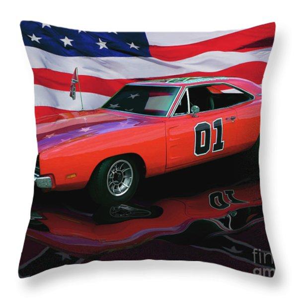 General Lee Throw Pillow by Peter Piatt