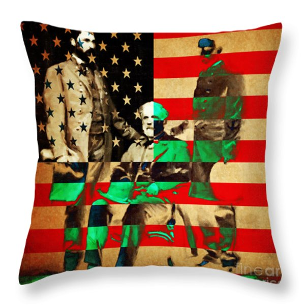General Robert E Lee Throw Pillow by Wingsdomain Art and Photography
