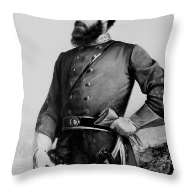 General Thomas Stonewall Jackson Throw Pillow by Mountain Dreams
