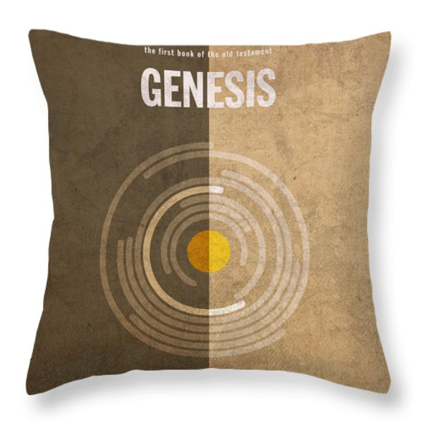 Genesis Books of the Bible Series Old Testament Minimal Poster Art Number 1 Throw Pillow by Design Turnpike