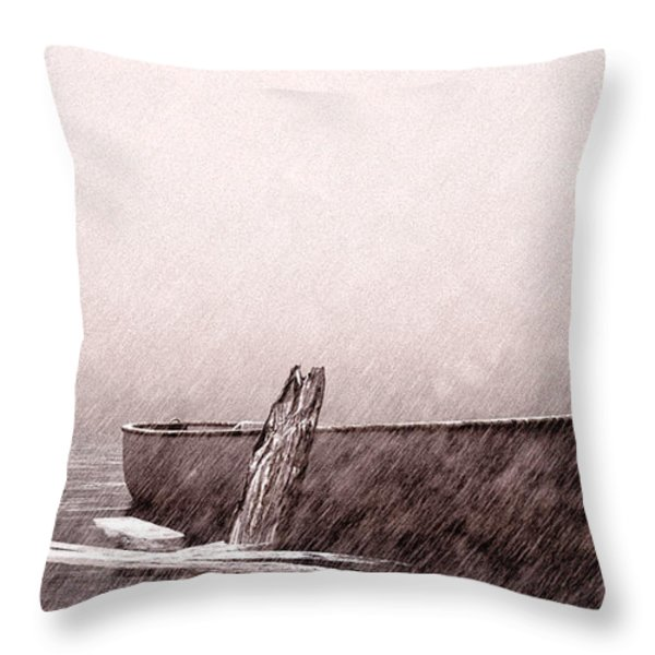 Gentle Current Throw Pillow by Bob Orsillo