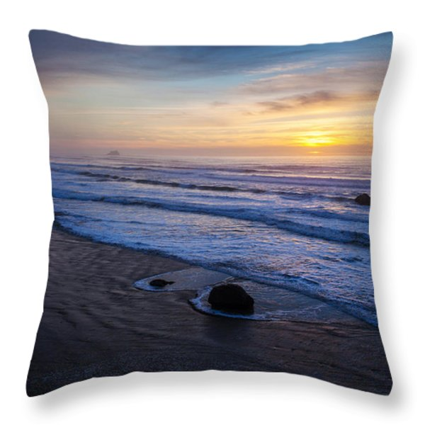 Gentle Evening Waves Throw Pillow by Mike Reid