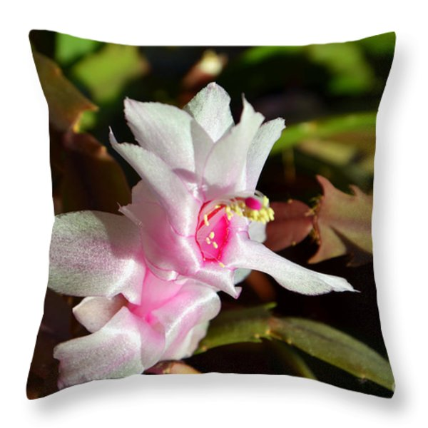Gentle Pink Throw Pillow by Ramona Matei