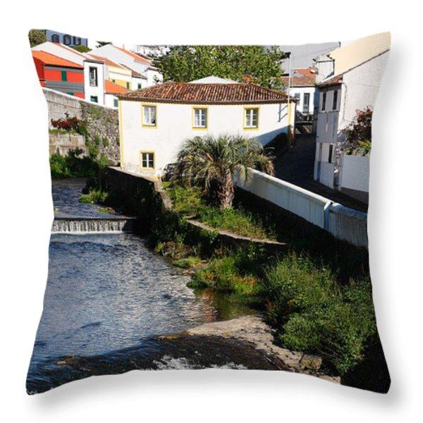 Gentle Stream Of Water Throw Pillow by Gaspar Avila