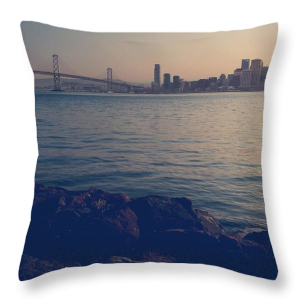 Gently the Evening Comes Throw Pillow by Laurie Search