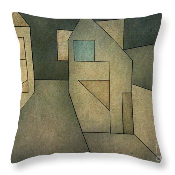 Geometric Abstraction II Throw Pillow by David Gordon