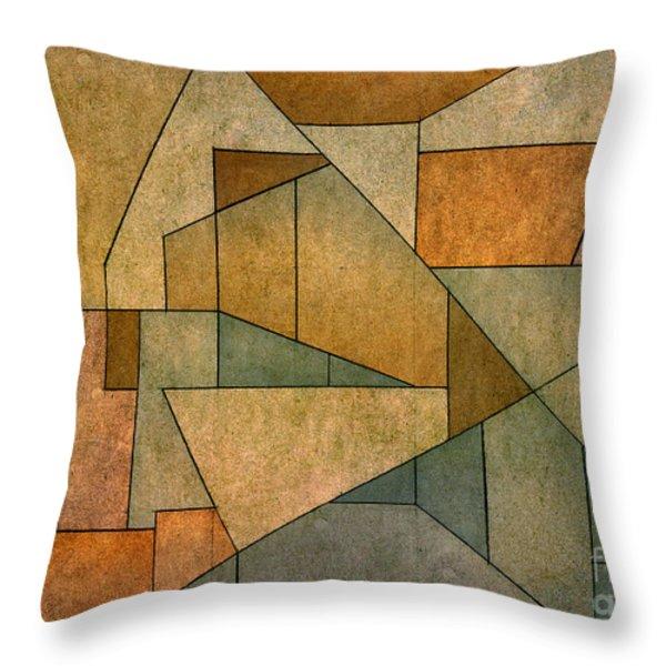 Geometric Abstraction IV Throw Pillow by David Gordon