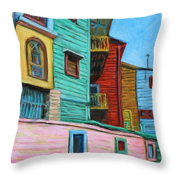 Geometric Colours II Throw Pillow by Xueling Zou
