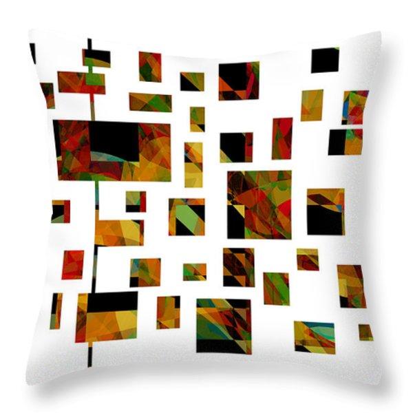 Geometric Design - Abstract - Art Throw Pillow by Ann Powell