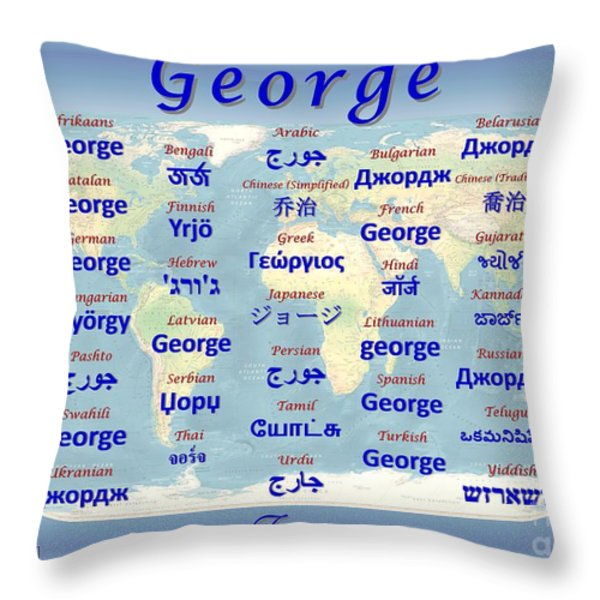 George Throw Pillow by J McCombie