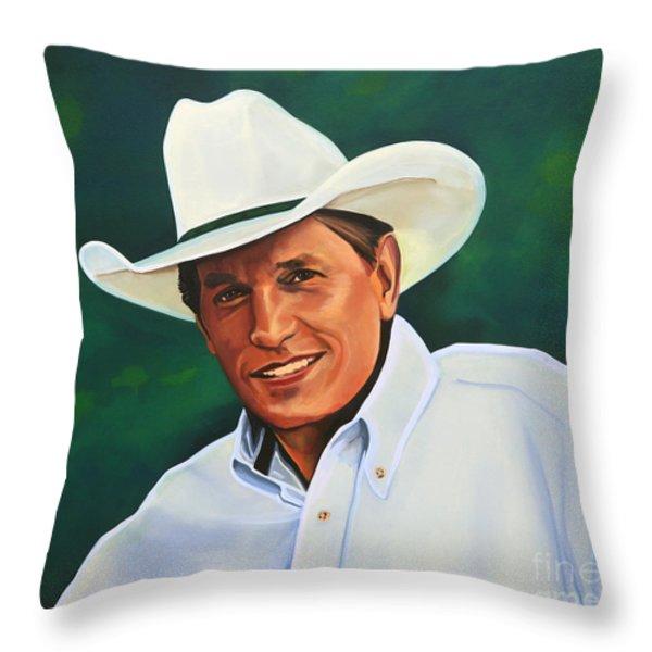 George Strait Throw Pillow by Paul  Meijering