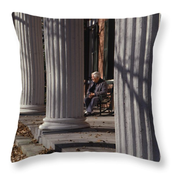 George Street Boone  Throw Pillow by Sid Webb