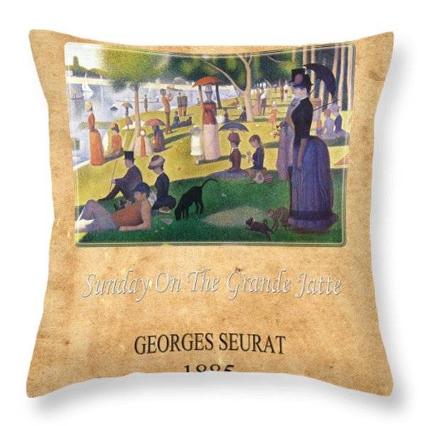 Georges Seurat 2 Throw Pillow by Andrew Fare