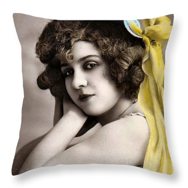 Georgette Delmares Throw Pillow by Studio Photo
