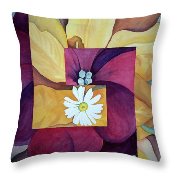 Georgia On My Mind I Throw Pillow by Irina Sztukowski