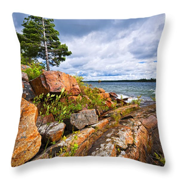 Georgian Bay Throw Pillow by Elena Elisseeva