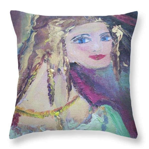 Georgiana and the ring Throw Pillow by Judith Desrosiers