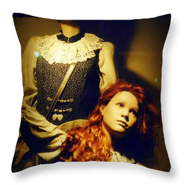 German Mannequins Throw Pillow by Halifax Photography John Malone