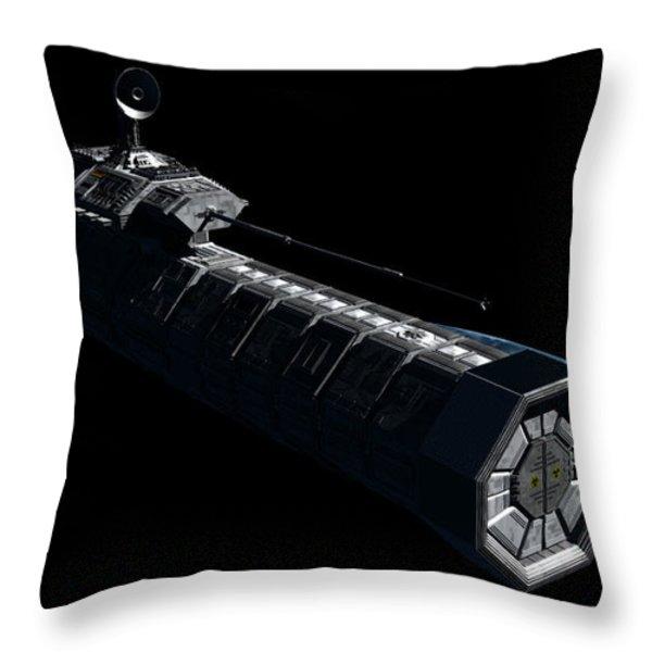 German Orbital Weapons Platform Throw Pillow by Rhys Taylor