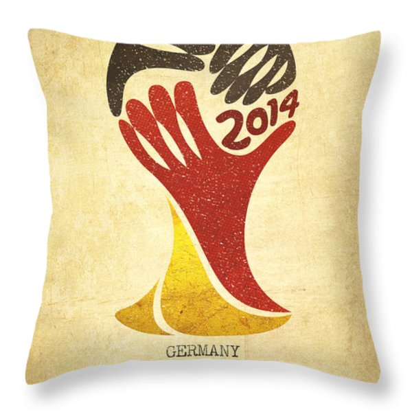 Germany World Cup Champion Throw Pillow by Aged Pixel