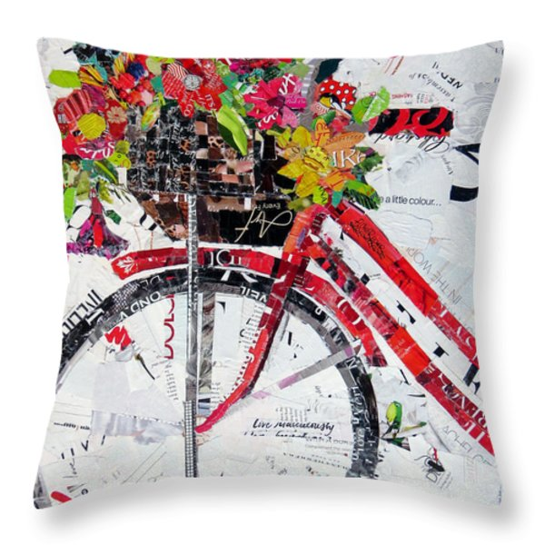 Get Your Spring Fix Throw Pillow by Suzy Pal Powell