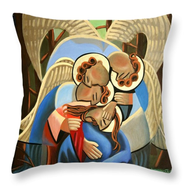 Gethsemane The Hour Is Near Throw Pillow by Anthony Falbo