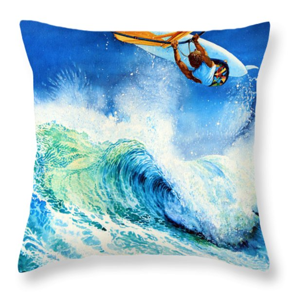 Getting Air Throw Pillow by Hanne Lore Koehler
