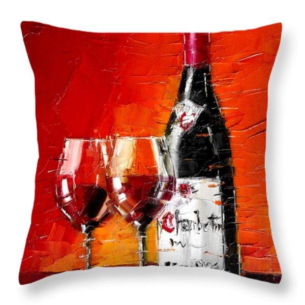 Gevrey-Chambertin Throw Pillow by MONA EDULESCO