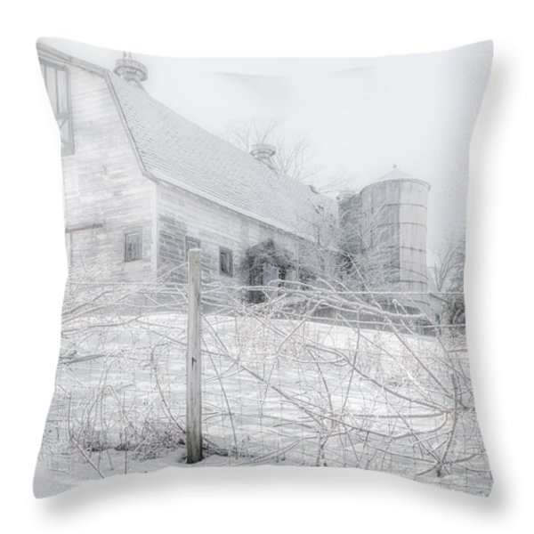 Ghost Barn Throw Pillow by Bill  Wakeley