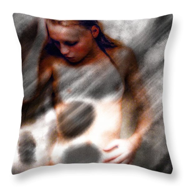Ghost Throw Pillow by Bob Orsillo