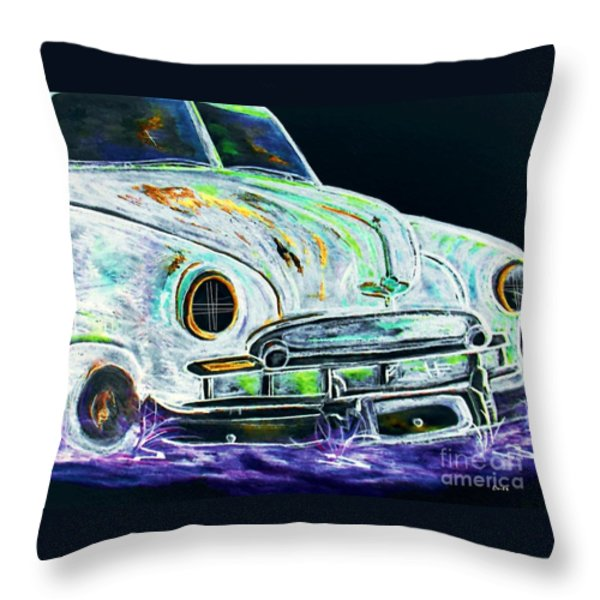 Ghost Car Throw Pillow by Eloise Schneider
