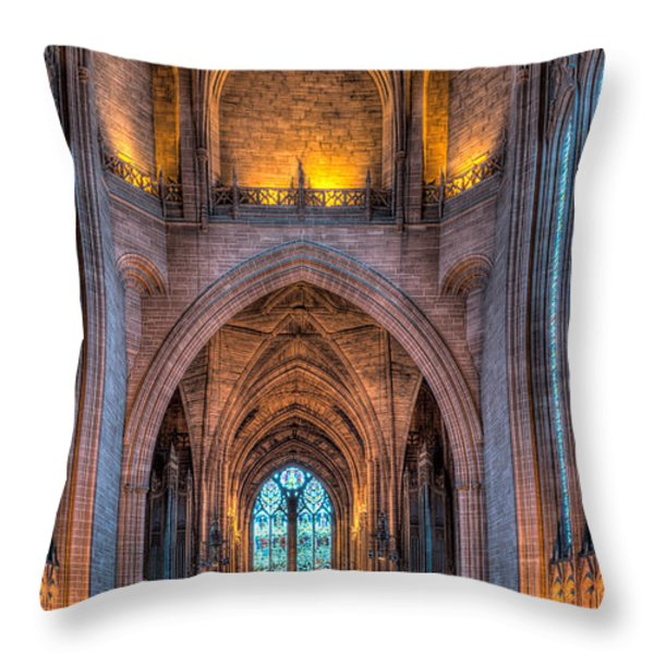 Ghost In The Cathedral Throw Pillow by Adrian Evans