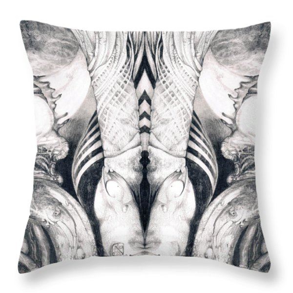 Ghost In The Machine - Detail Mirrored Throw Pillow by Otto Rapp