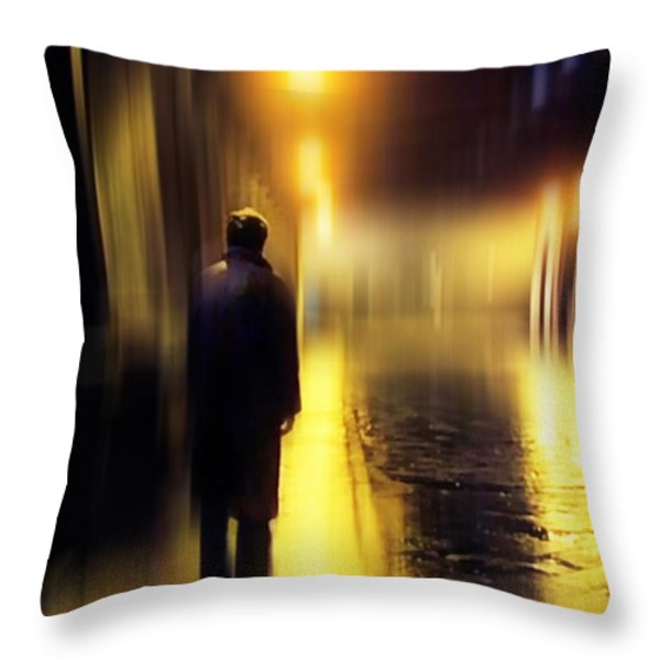 Ghost of Love 1 Throw Pillow by Jenny Rainbow