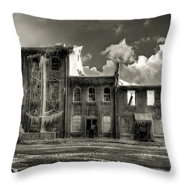 Ghost Of Our Town Throw Pillow by Jaki Miller