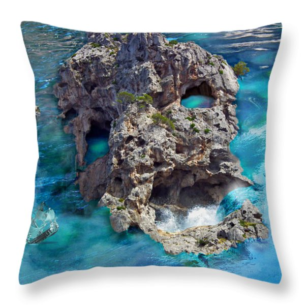 Ghost Rock Throw Pillow by Johnny Trippick