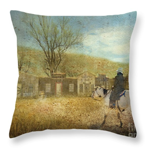 Ghost Town #1 Throw Pillow by Betty LaRue