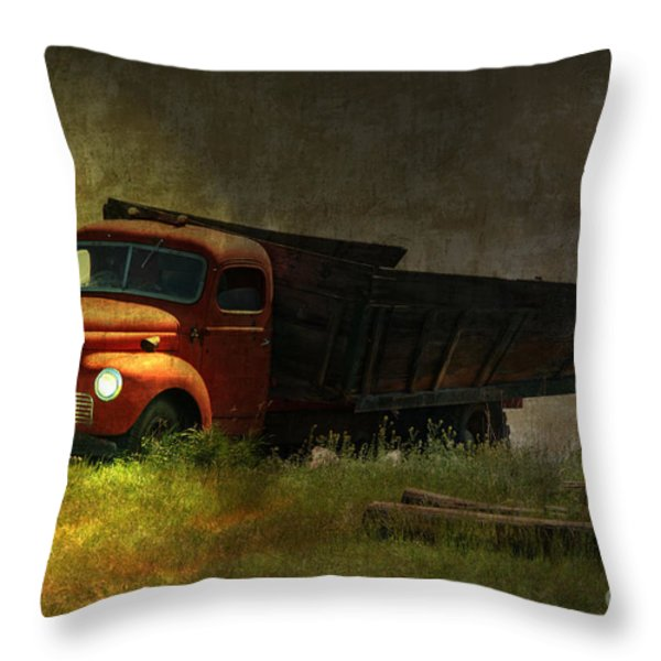 Ghost Truck Throw Pillow by Vickie Emms