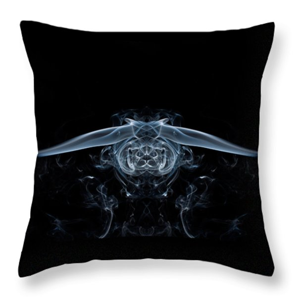 Ghostly Owl Throw Pillow by Steve Purnell