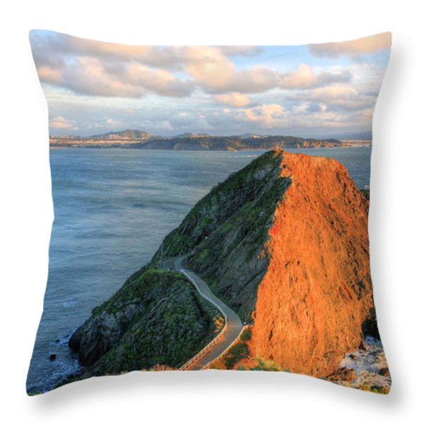 Gibraltar Throw Pillow by JC Findley