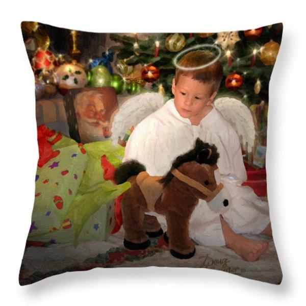 Gift Of Christmas Throw Pillow by Doug Kreuger