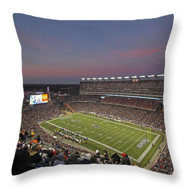 Gillette Stadium in Foxboro  Throw Pillow by Juergen Roth