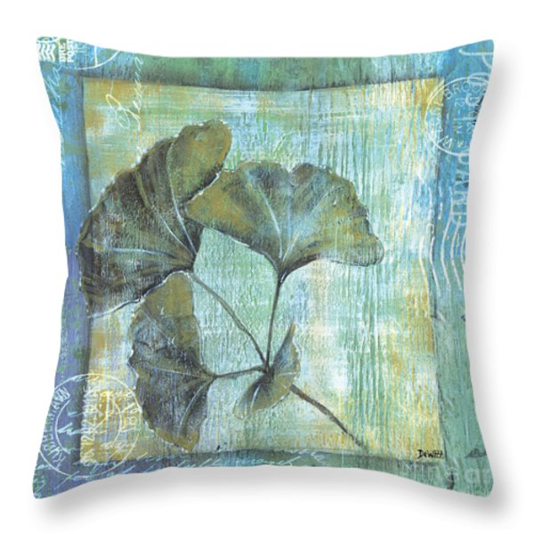 Gingko Spa 2 Throw Pillow by Debbie DeWitt