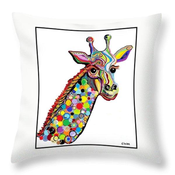 Giraffe Throw Pillow by Eloise Schneider