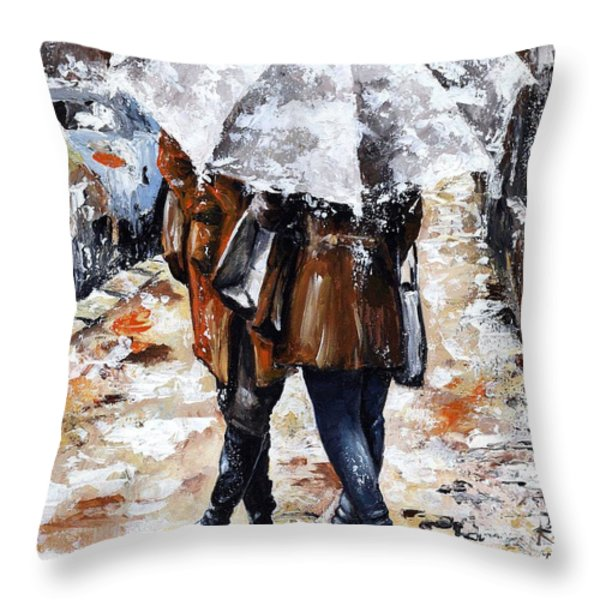 Girlfriends Throw Pillow by Emerico Imre Toth