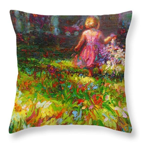 Girls Will Be Girls Throw Pillow by Talya Johnson