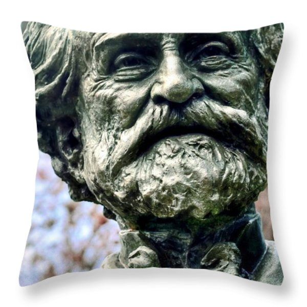 Giuseppe Verdi Throw Pillow by Kathleen Struckle